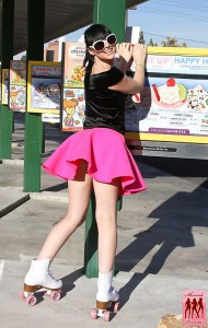 bailey jay on roller skates